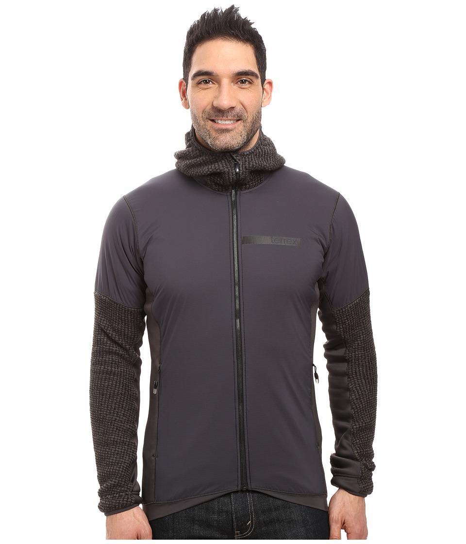 adidas Outdoor Terrex Climaheat Techrock Hooded Fleece Jacket (DGH Solid Grey) Men