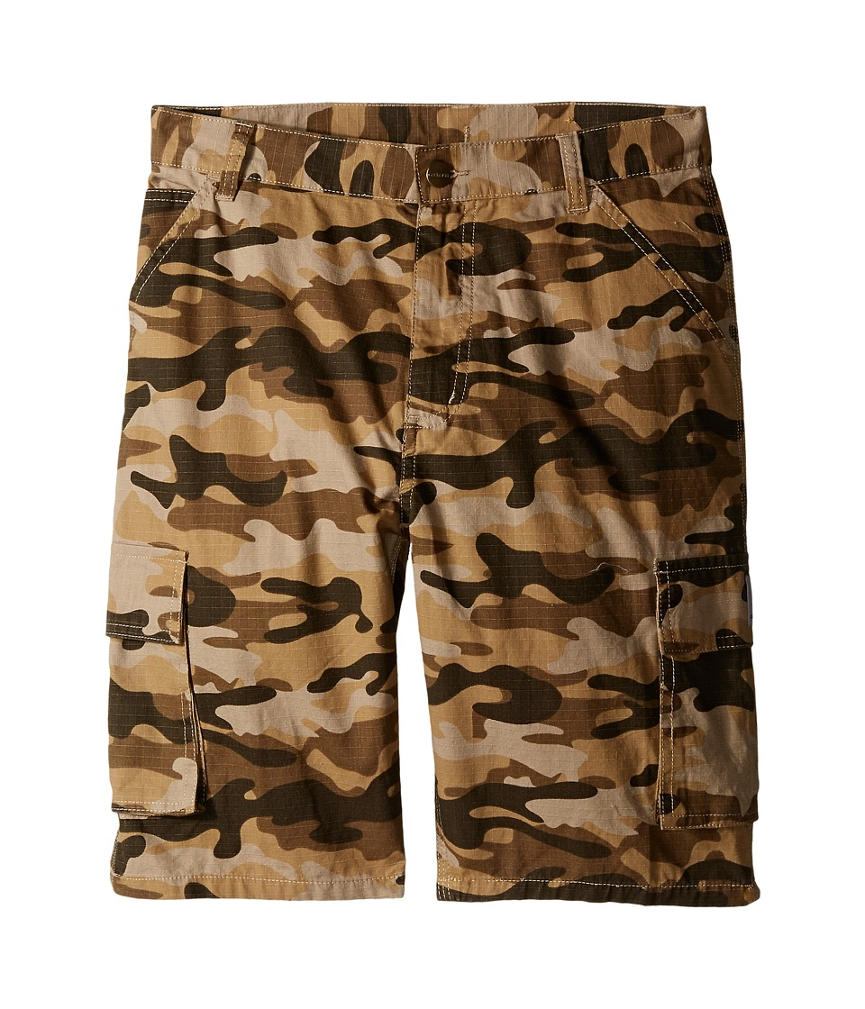 Carhartt Kids - Camo Cargo Shorts (Big Kids) (Tan Camo) Boy's Shorts