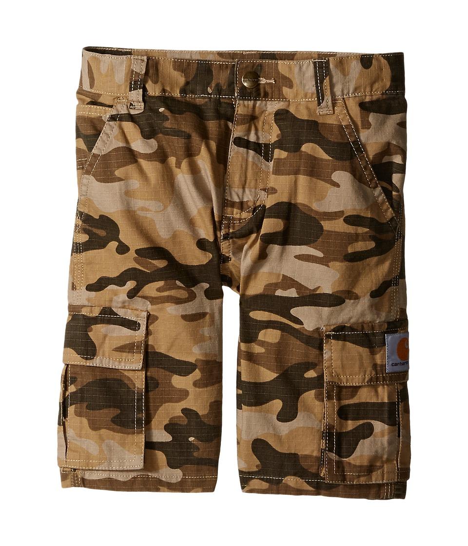 Carhartt Kids - Camo Cargo Shorts (Little Kids) (Tan Camo) Boy's Shorts