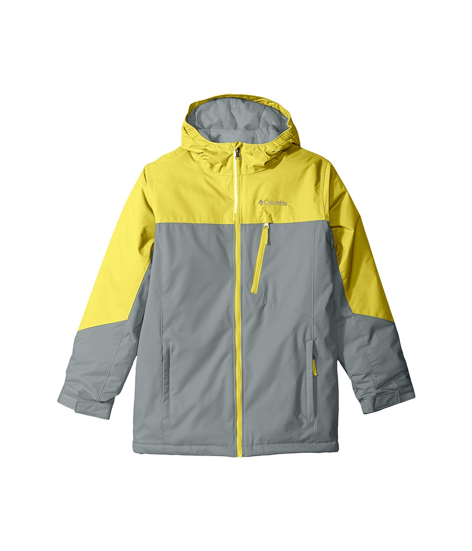 Columbia Kids - Double Grab Jacket (Little Kids/Big Kids) (Mineral Yellow/Grey Ash) Girl's Coat