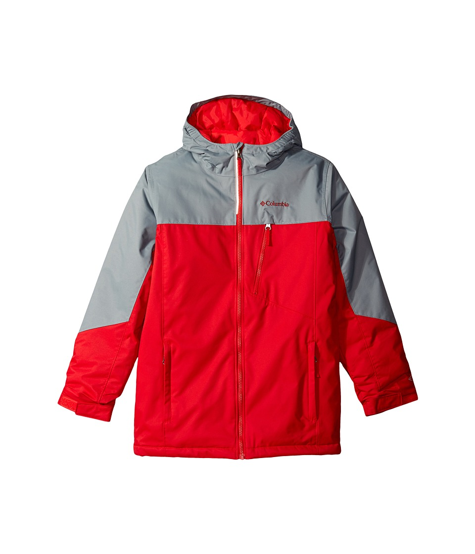 Columbia Kids - Double Grab Jacket (Little Kids/Big Kids) (Mountain Red/Grey Ash) Girl's Coat