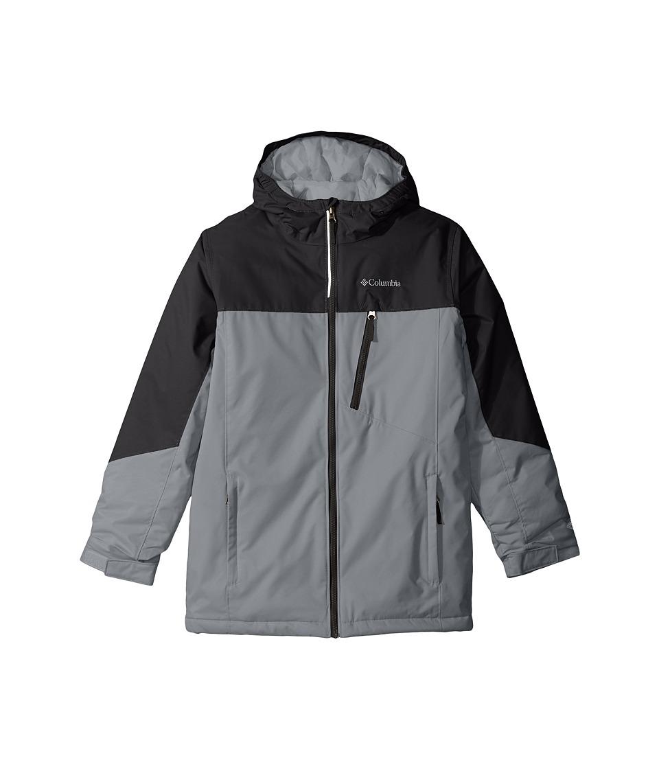 Columbia Kids - Double Grab Jacket (Little Kids/Big Kids) (Black/Grey Ash) Girl's Coat