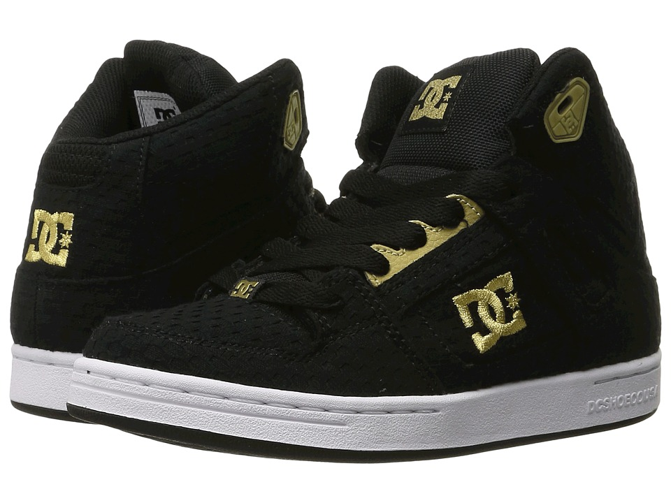DC Kids - Rebound TX SE (Big Kid) (Black/Gold) Girls Shoes