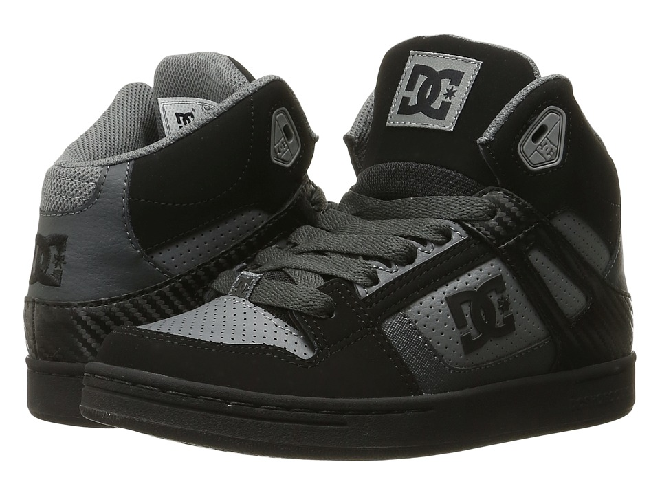 DC Kids - Rebound (Big Kid) (Grey/Black/Grey) Boys Shoes