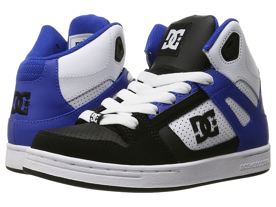 DC Kids - Rebound (Big Kid) (Black/White/Blue) Boys Shoes