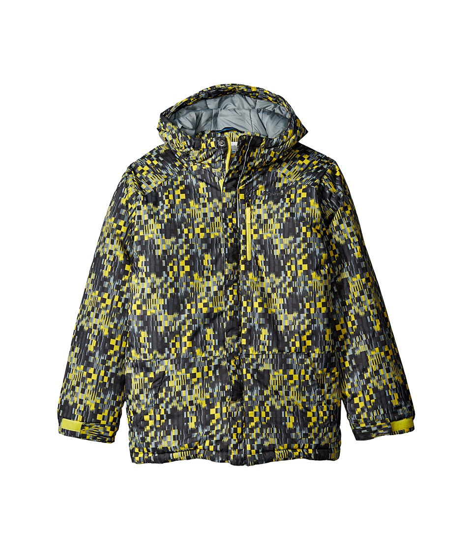 Columbia Kids - Lightning Lift Jacket (Little Kids/Big Kids) (Mineral Yellow Geo Block/Grey Ash/Mineral Yellow) Boy's Jacket