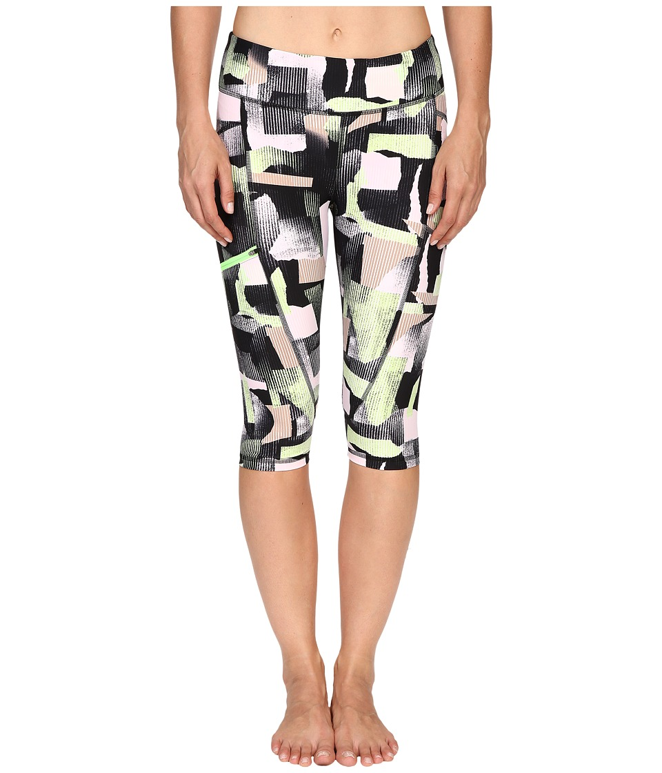 Zobha - Printed Capris w/ Side Zip Pocket (Paradise Green) Women's Capri