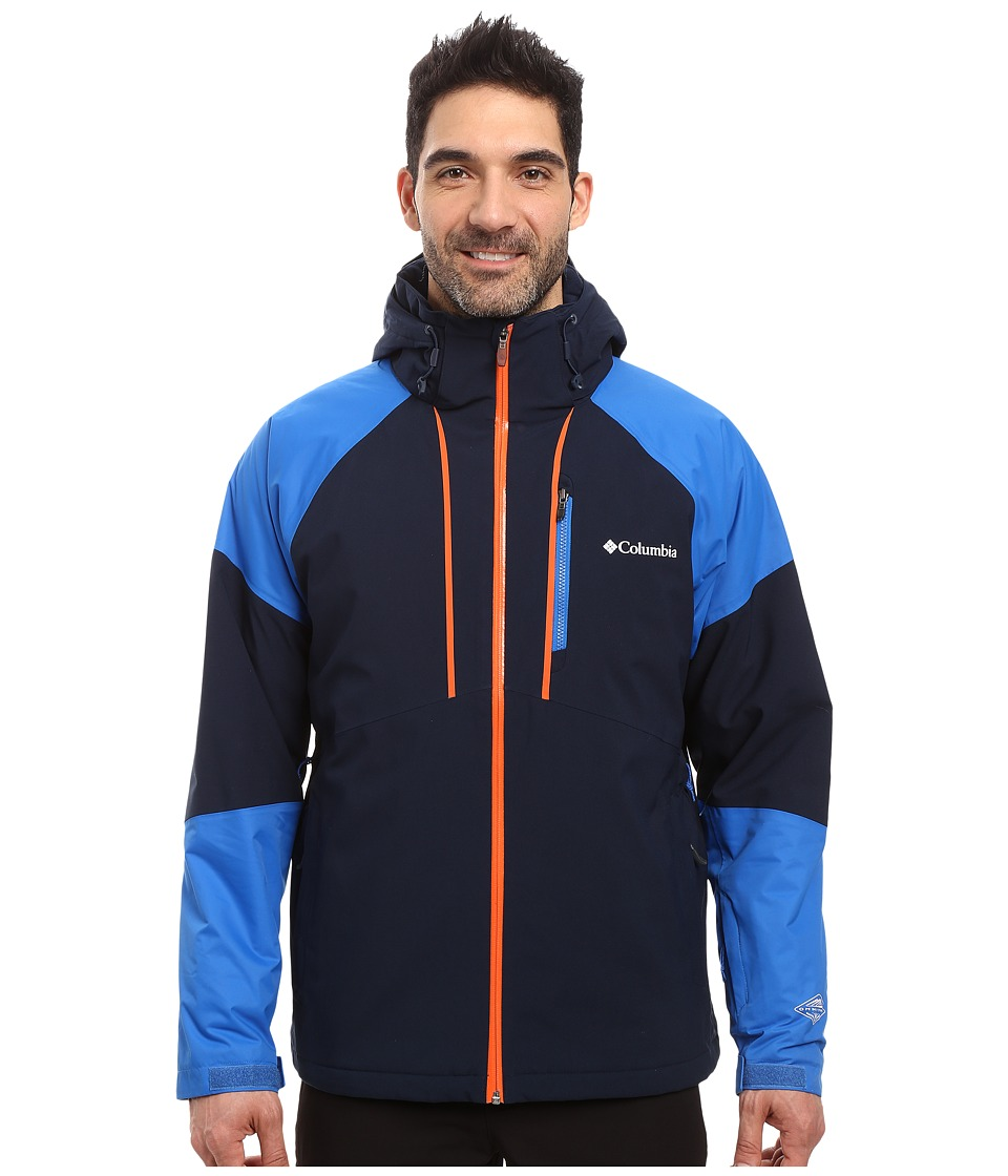 Columbia Gitback Jacket (Collegiate Navy/Super Blue/Tangy Orange) Men