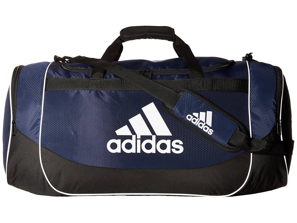 adidas - Defense Large Duffel Bag (Collegiate Navy) Duffel Bags