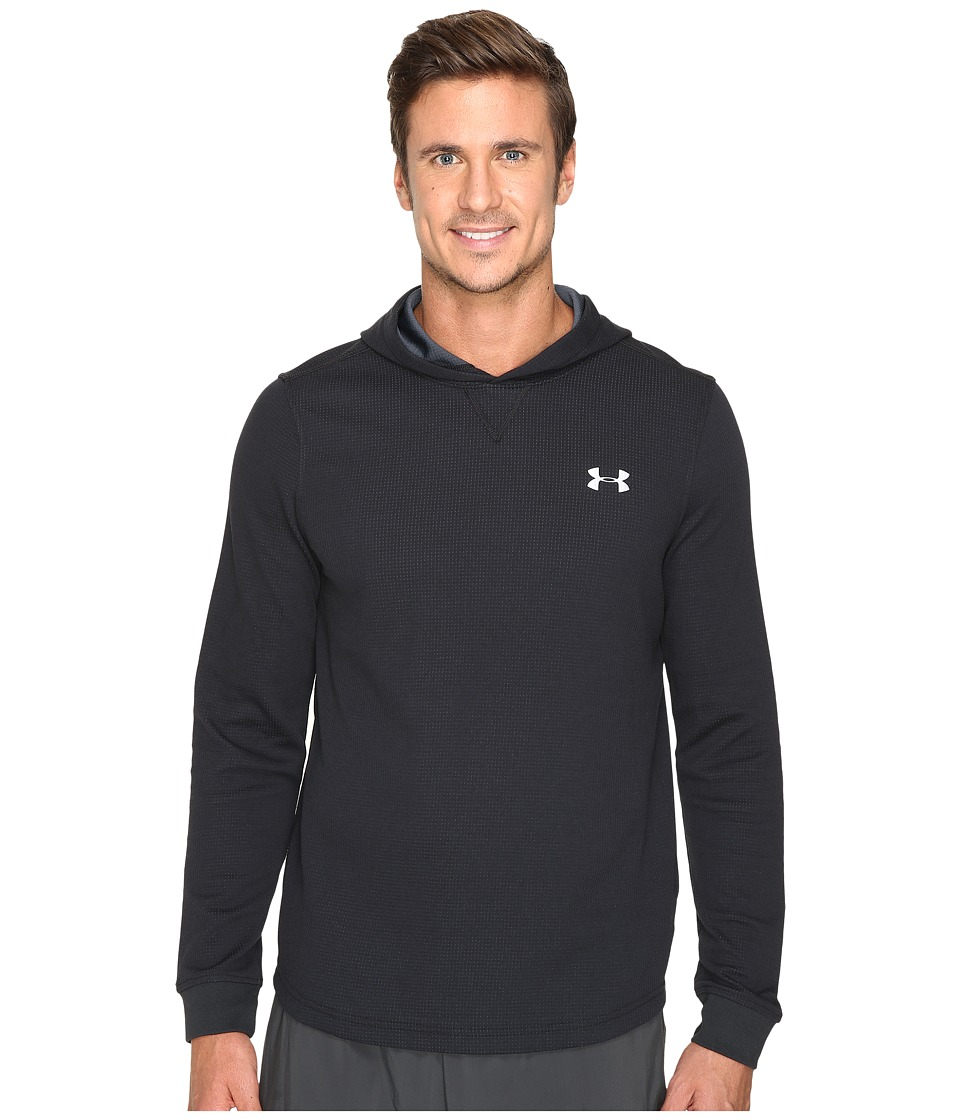 Under Armour - UA Waffle Popover Hoodie (Black/Stealth Gray/Steel) Men's Sweatshirt