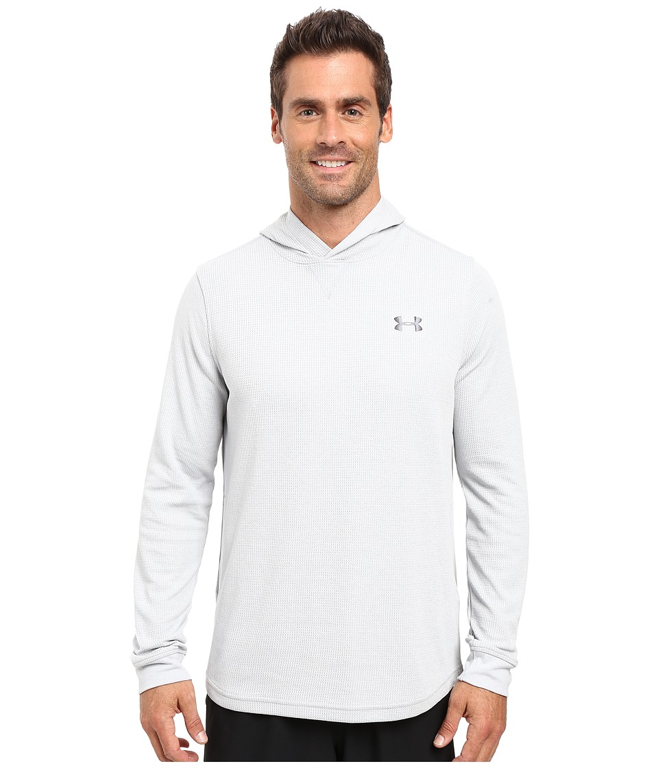 Under Armour - UA Waffle Popover Hoodie (Air Force Gray Heather/Steel/Graphite) Men's Sweatshirt