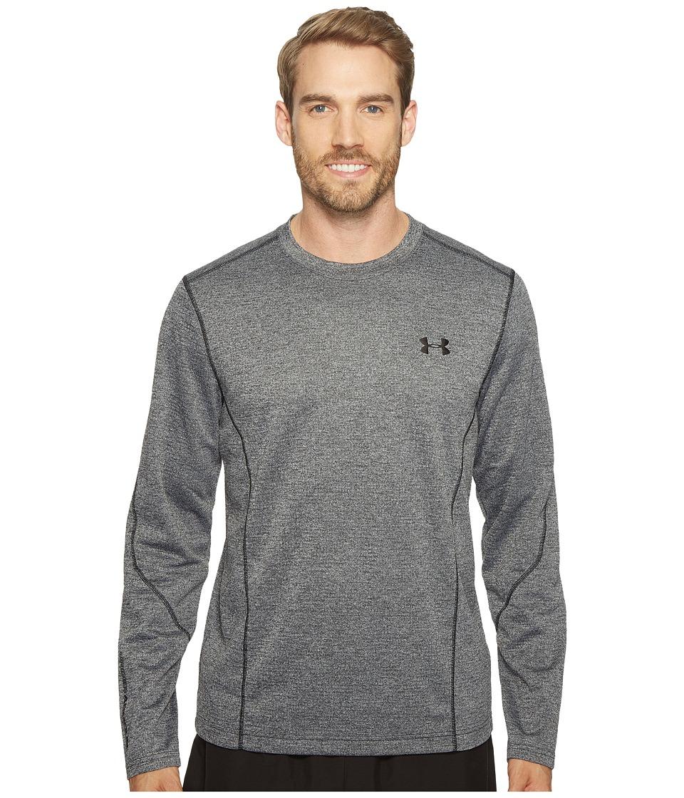 Under Armour - UA Coldgear(r) Infrared Raid Long Sleeve Tee (White/Black) Men's T Shirt