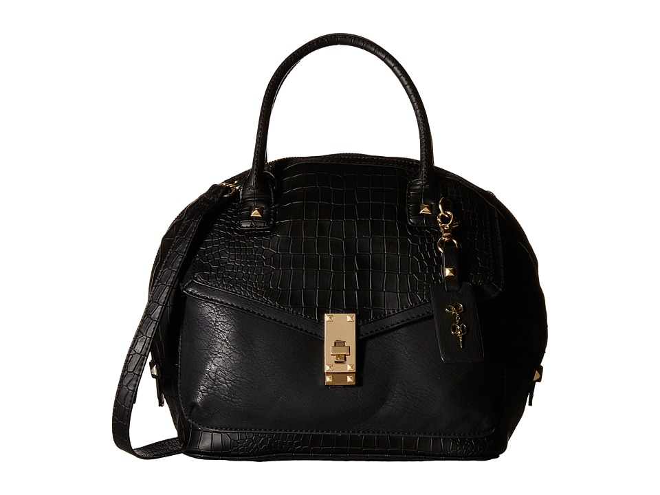 Jessica Simpson - Robertson Crossbody Dome Satchel (Black) Cross Body Handbags