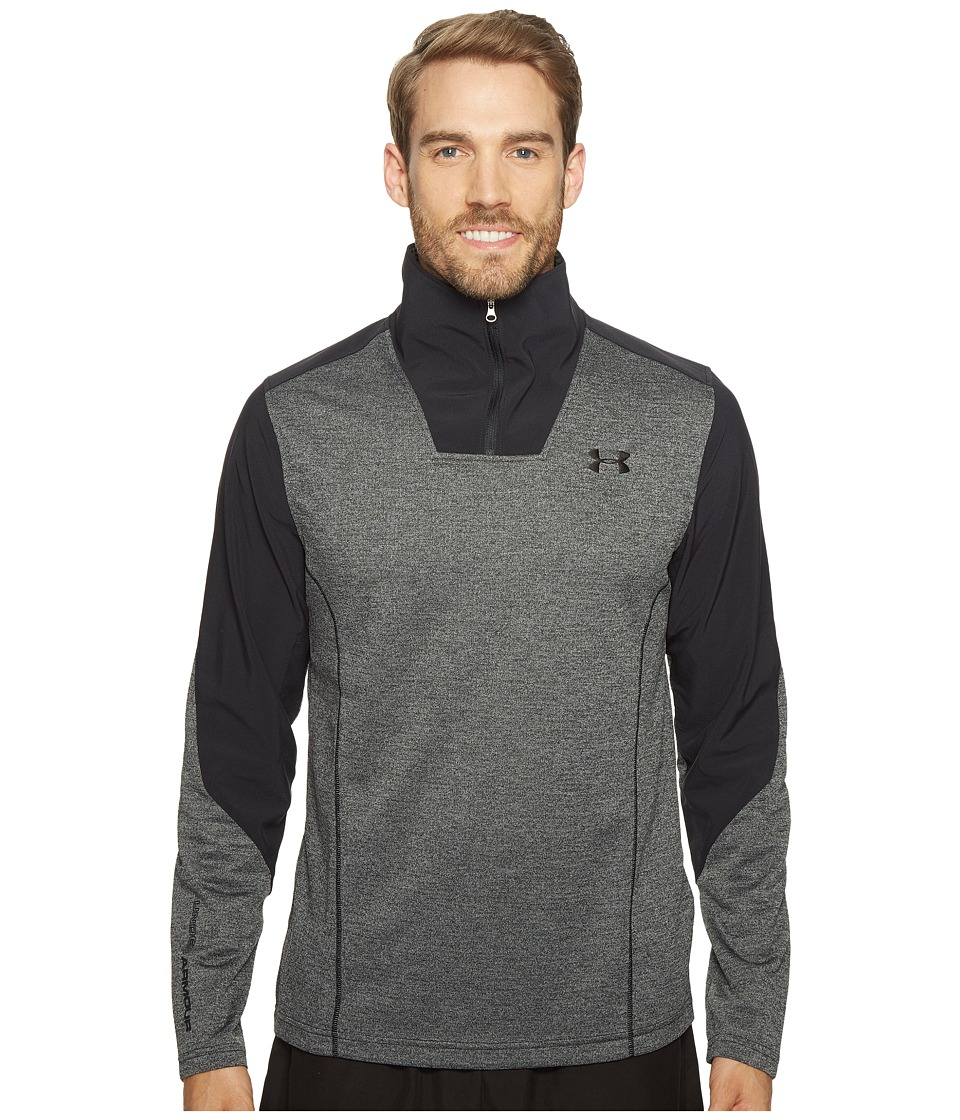 Under Armour - UA Coldgear(r) Infrared Raid 1/4 Zip Pullover (Steel/Black) Men's Long Sleeve Pullover