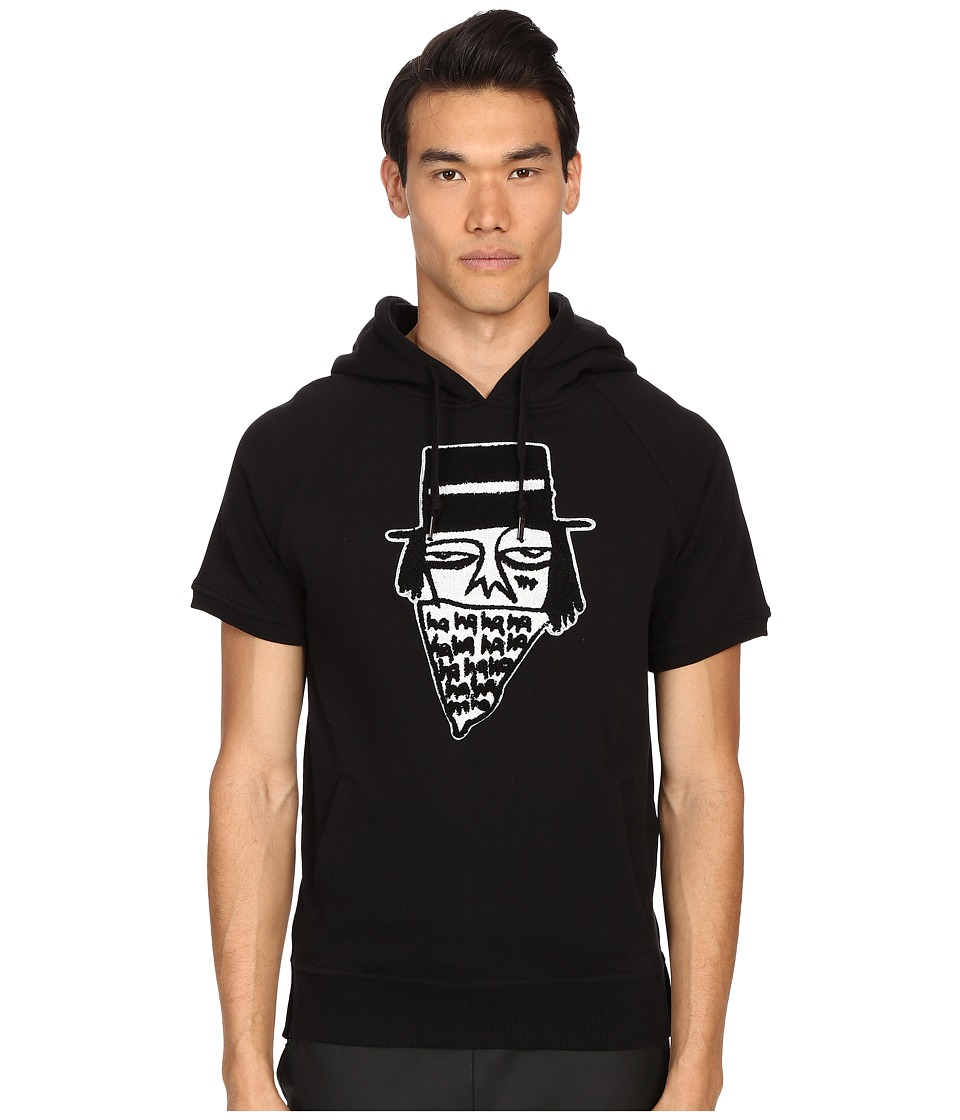 Haculla - NYC Bandito Short Sleeve Hoodie (Black) Men's Sweatshirt