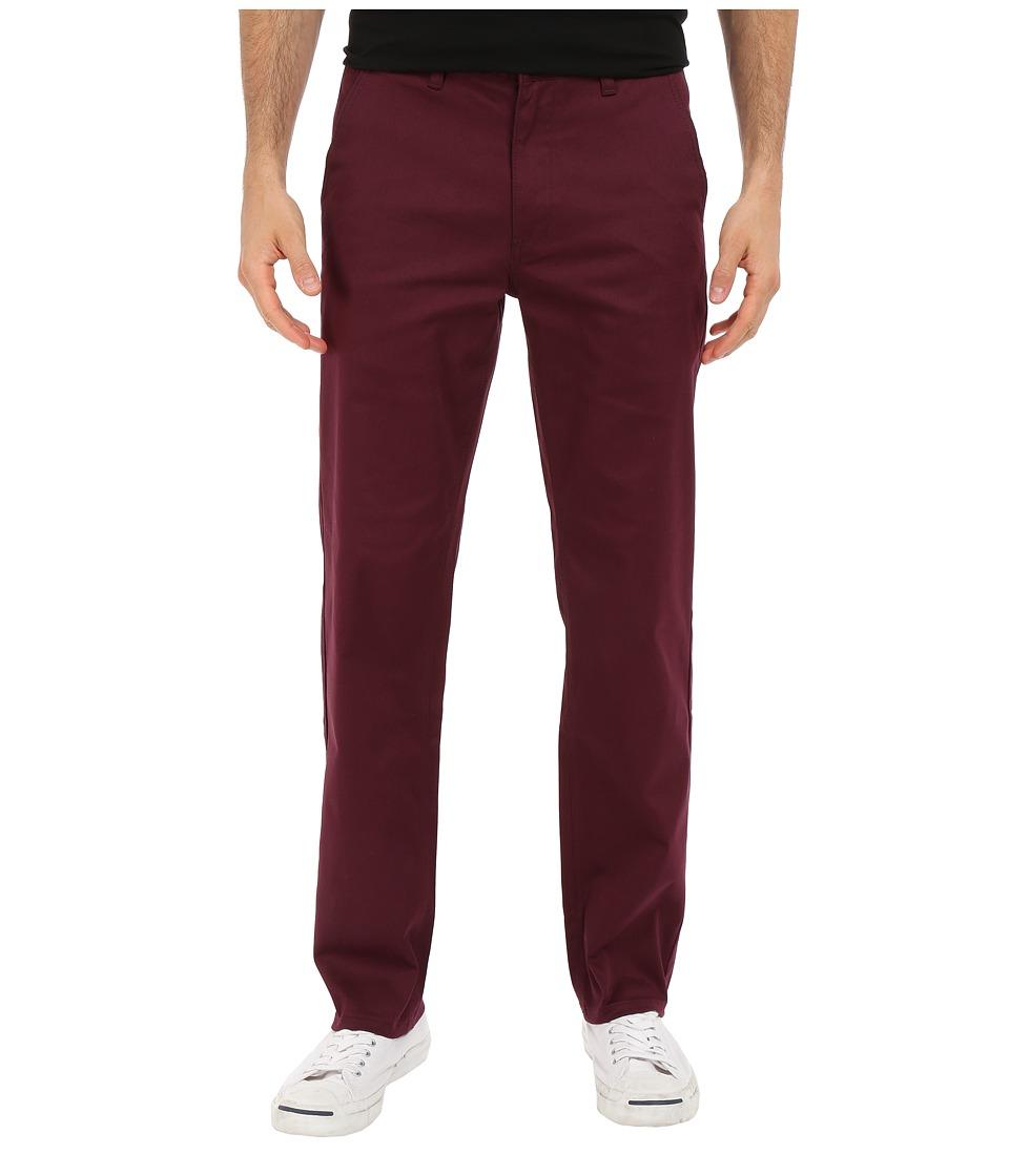 HUF - Fulton Chino Pants (Burgundy) Men's Casual Pants