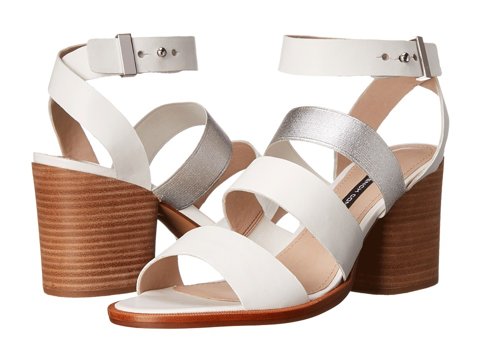 French Connection - Ciara (Summer White/Silver) Women's Shoes