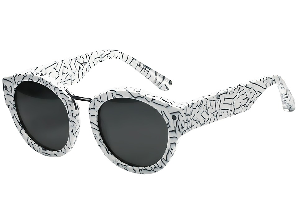 Elizabeth and James - Bennett (Graffiti Print/Smoke Mono Lens) Fashion Sunglasses