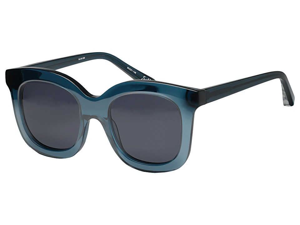 Elizabeth and James - Sutton (Crystal Blue/Blue Mono Lens) Fashion Sunglasses