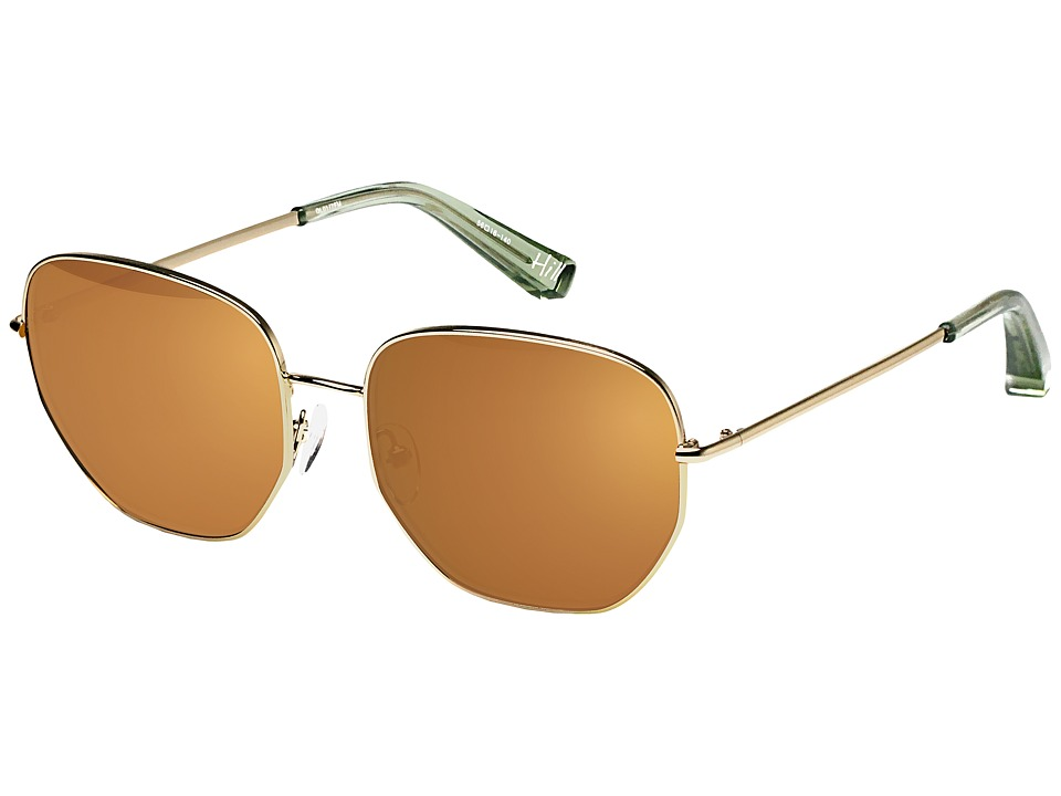 Elizabeth and James - Hill (Shiny Golg/Gold Lens) Fashion Sunglasses
