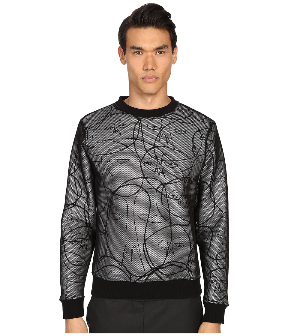 Haculla - One of a Kind Mesh Pullover (White/Black) Men's Sweatshirt