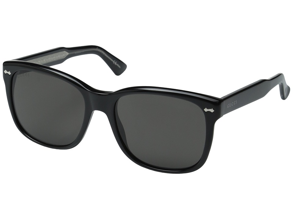 Gucci - GG 1134/S (Black Crystal/Brown Grey) Fashion Sunglasses