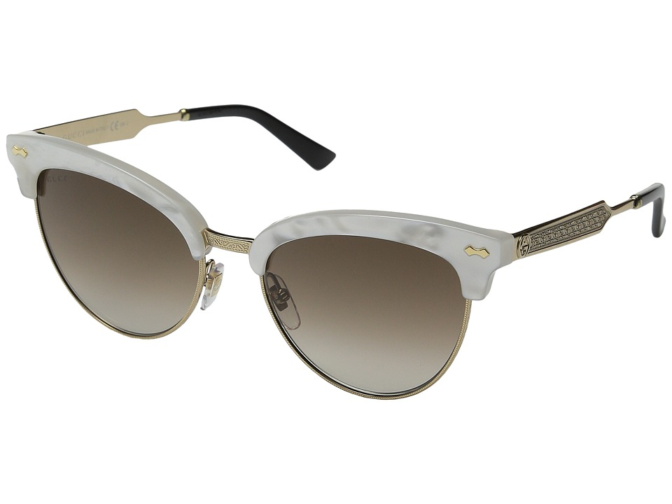 Gucci - GG 4283/S (Mother-of-Pearl Gold/Brown Gradient) Fashion Sunglasses