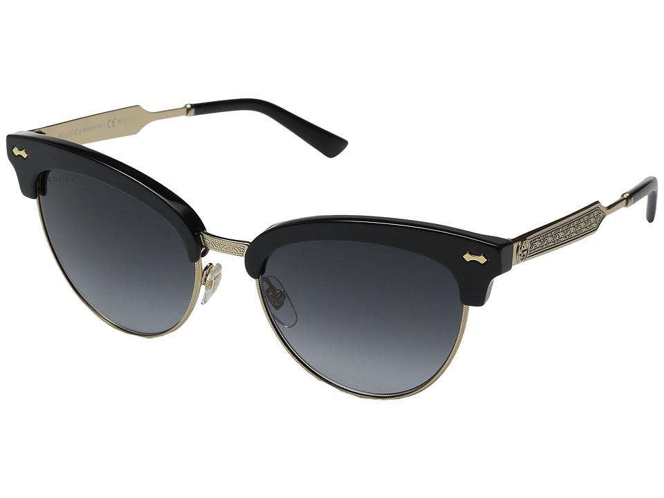 Gucci - GG 4283/S (Black Gold/Dark Gray Gradient) Fashion Sunglasses