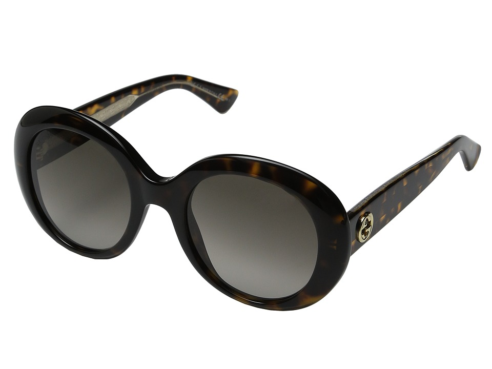 Gucci - GG 3815/S (Dark Havana Crystal/Brown Gradient) Fashion Sunglasses