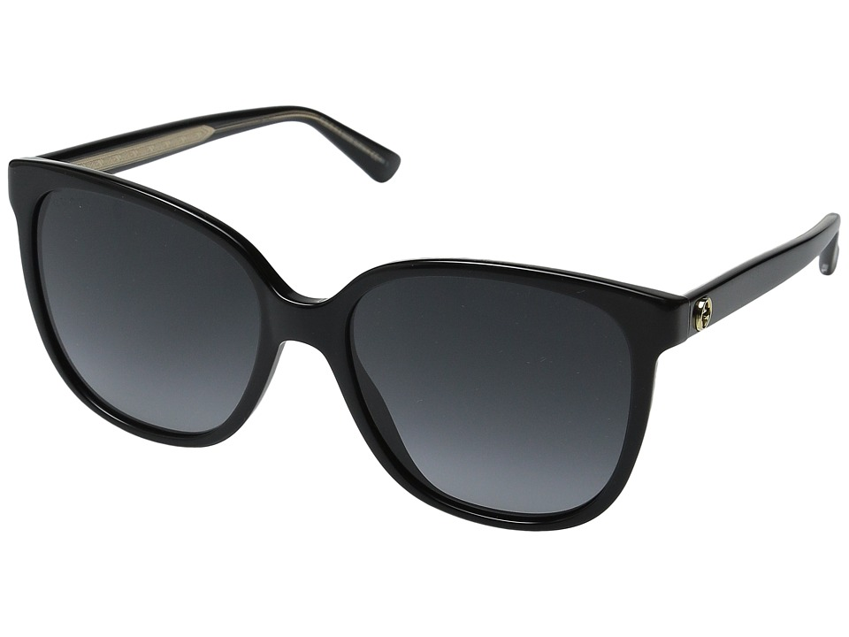 Gucci - GG 3819/S (Black Black Crystal/Dark Gray Gradient) Fashion Sunglasses