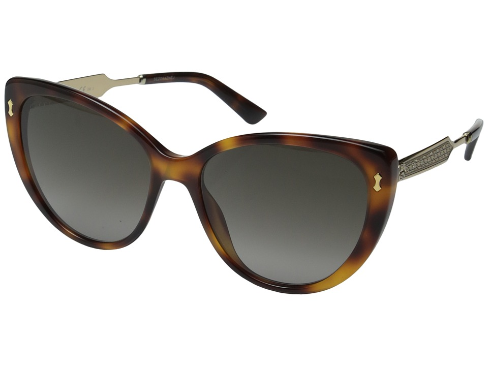 Gucci - GG 3804/S (Dark Havana Gold/Brown Gradient) Fashion Sunglasses