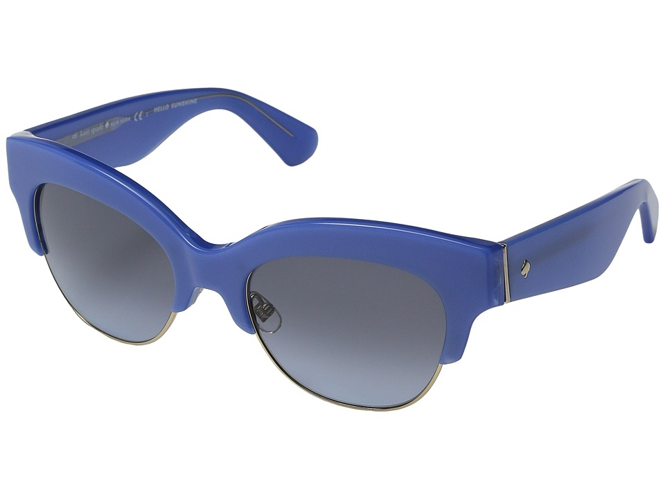 Kate Spade New York - Nikki/S (Blue/Blue Shade) Fashion Sunglasses