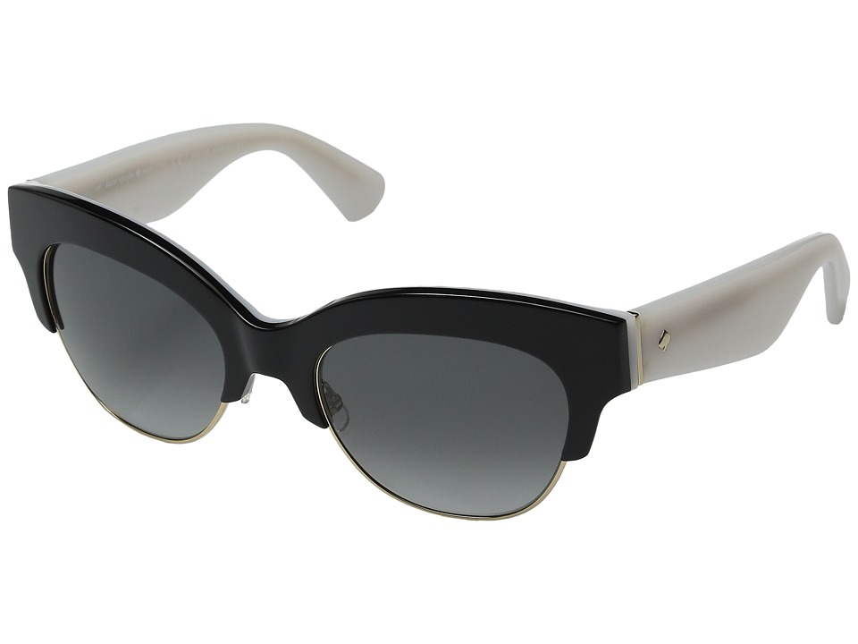 Kate Spade New York - Nikki/S (Black/White/Gray Gradient) Fashion Sunglasses