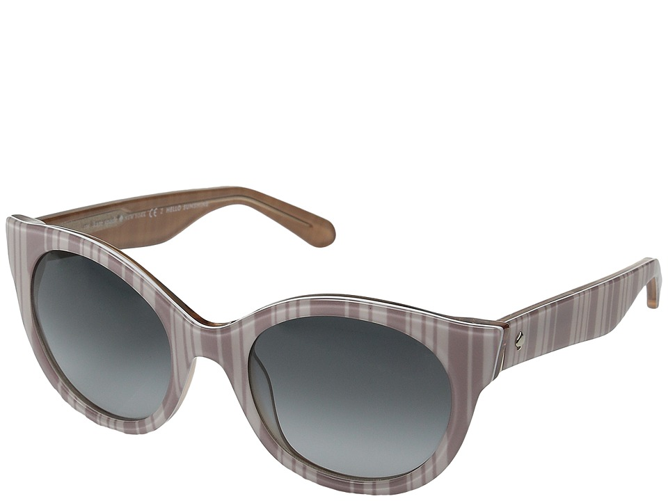 Kate Spade New York - Melly/S (Beige Stripe/White/Gray Gradient) Fashion Sunglasses