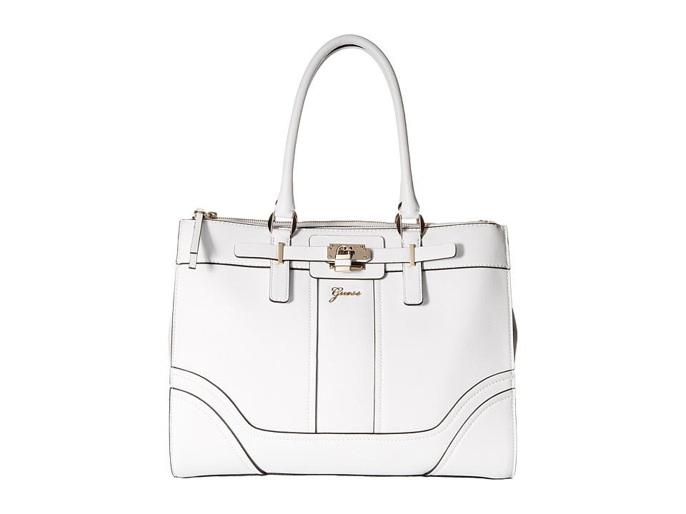 GUESS - Greyson Status Carryall (White) Satchel Handbags
