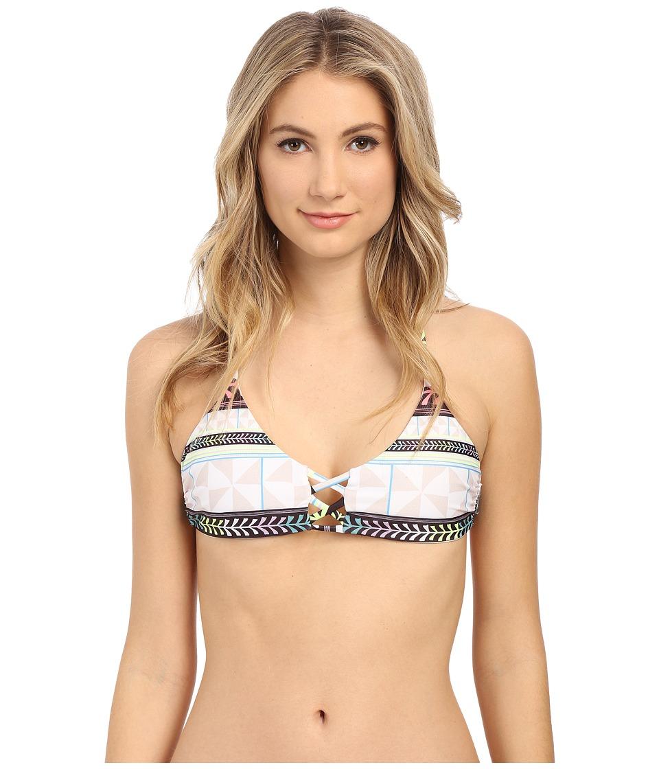 Mara Hoffman Lace Front Bralette Pinwheel Stone Womens Swimwear