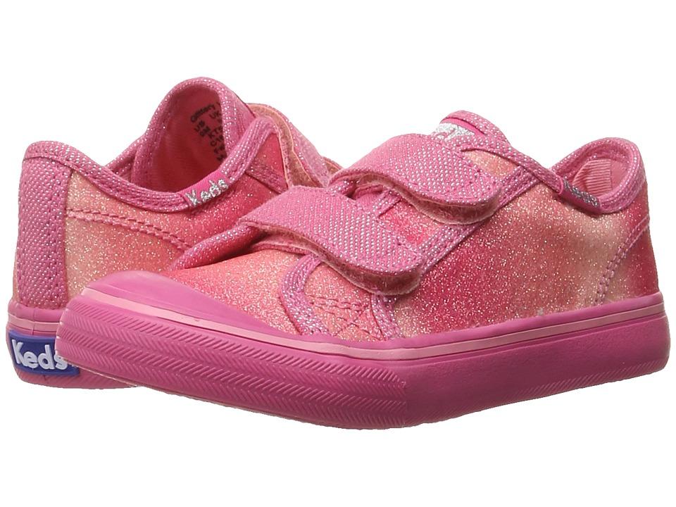 Keds Kids - Glittery HL (Toddler/Little Kid) (Pink Sugar Dip) Girls Shoes