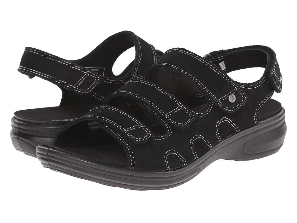 Revere - Capri (Black Nubuck) Women's Flat Shoes