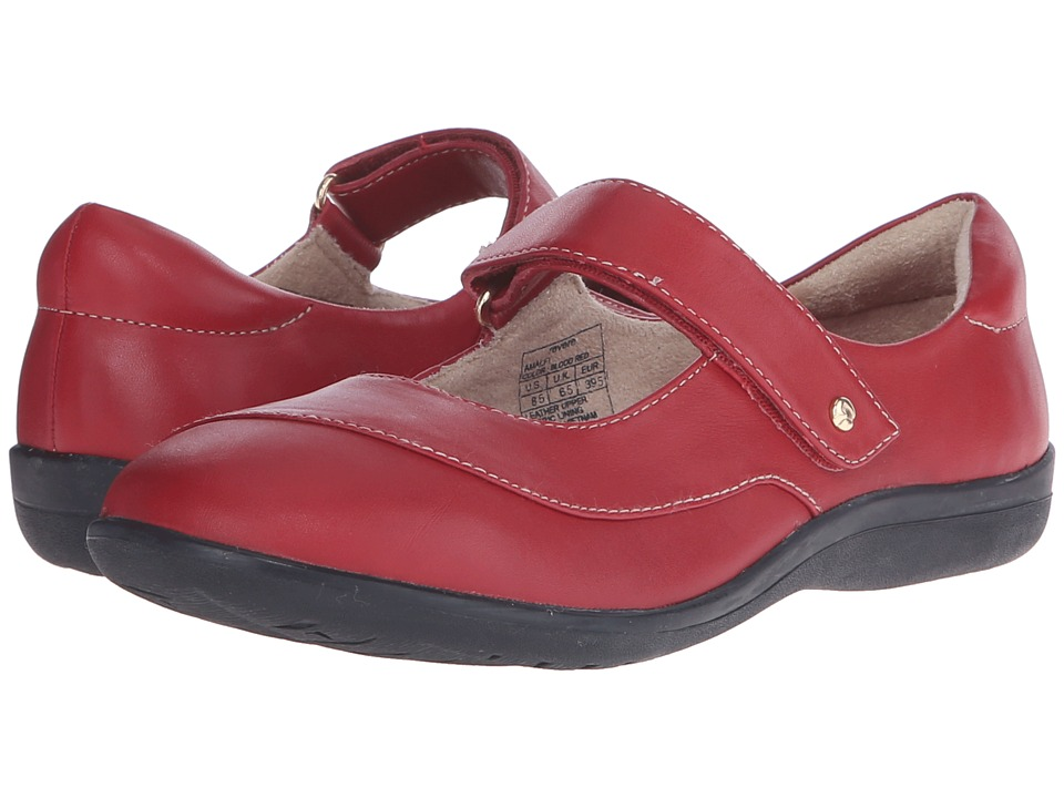 Revere - Amalfi (Blood Red) Women's Flat Shoes
