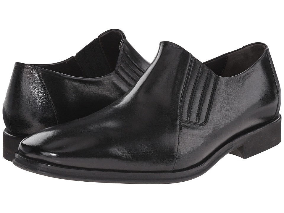 Bruno Magli - Wade (Black) Men's Slip-on Dress Shoes