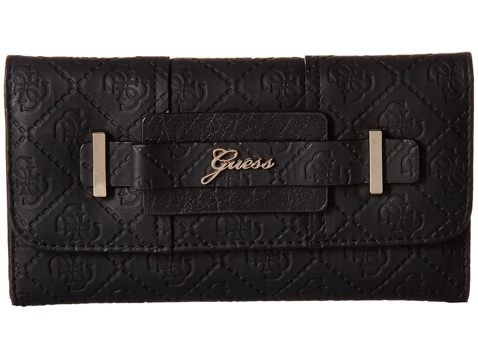 GUESS - La Vida Logo Slim Clutch (Black) Clutch Handbags