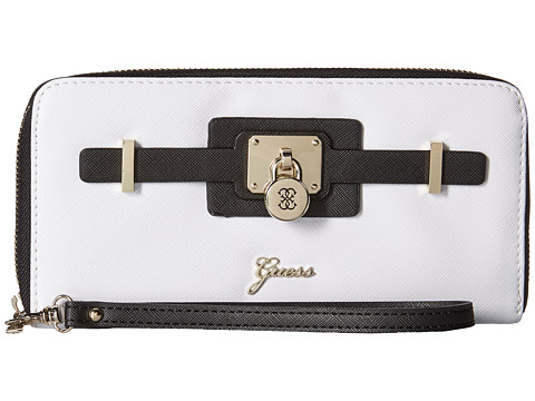 GUESS - Greyson SLG Large Zip Around (Black Multi) Handbags