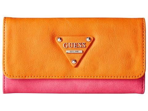 GUESS - Audrey Slim Clutch (Berry Multi) Clutch Handbags