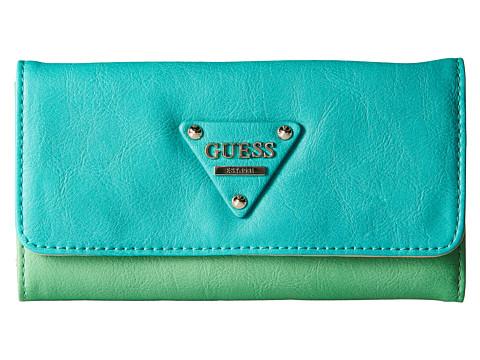 GUESS - Audrey Slim Clutch (Grass Multi) Clutch Handbags