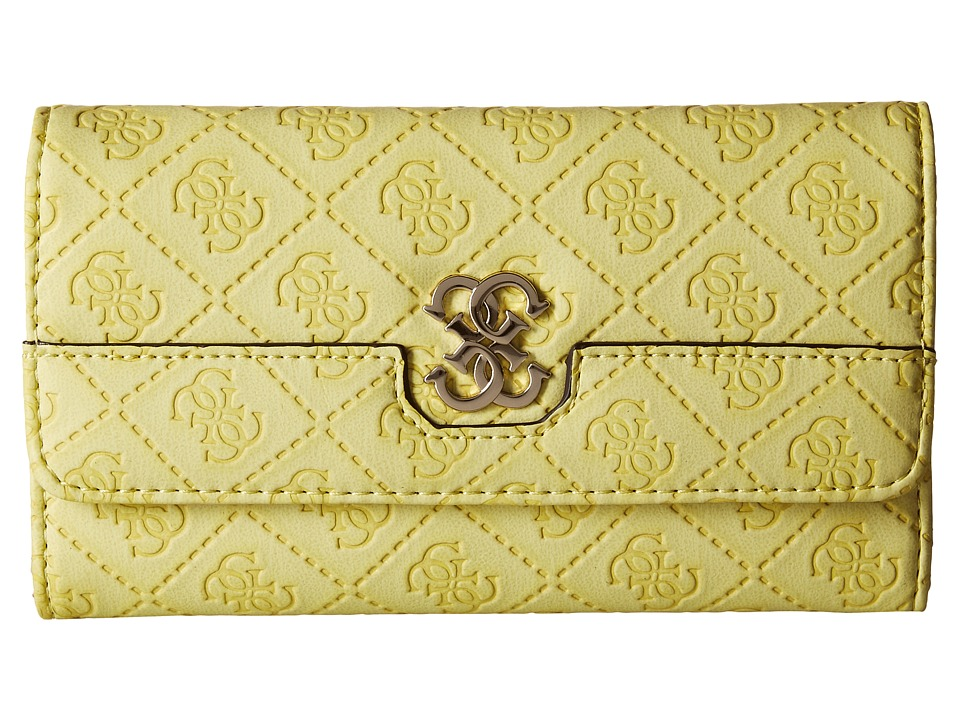 GUESS - Carnivale Slim Clutch (Lime) Clutch Handbags