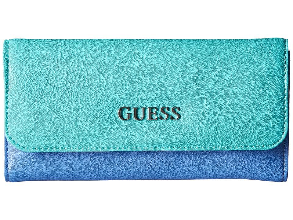 GUESS - Doheny Slim Clutch (Ocean Multi) Clutch Handbags