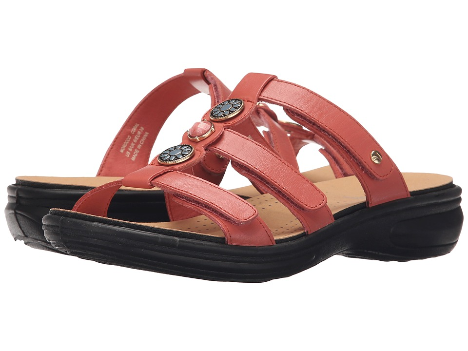 Revere - Morocco (Coral) Women's Flat Shoes
