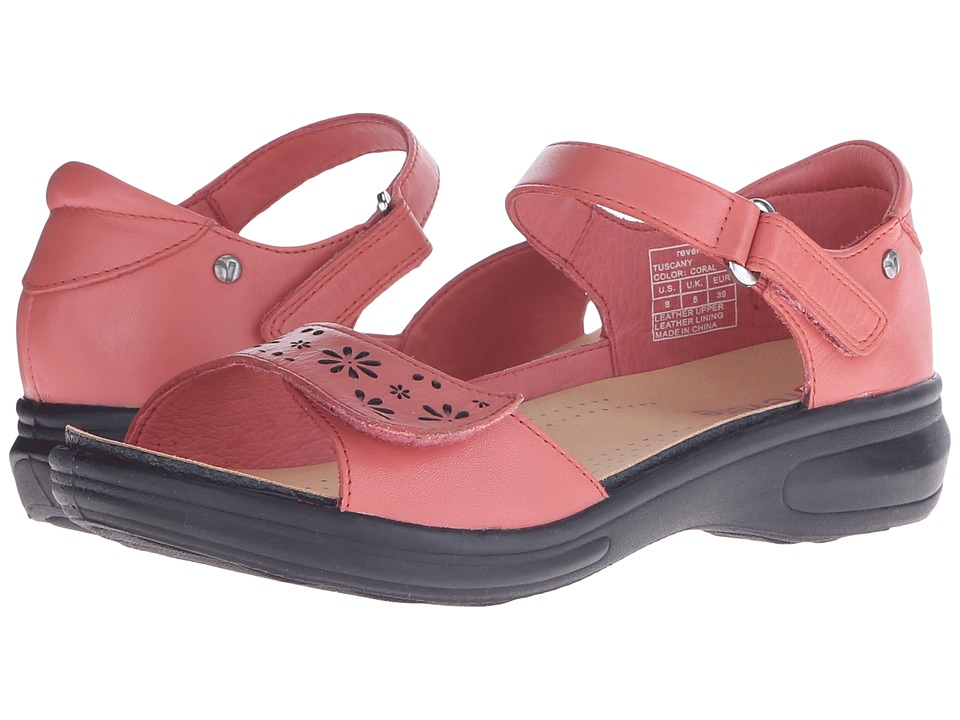 Revere - Tuscany (Coral) Women's Flat Shoes