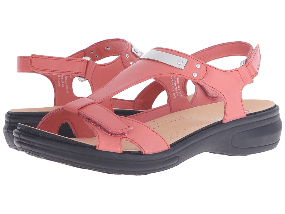 Revere - Santa Monica (Coral) Women's Flat Shoes