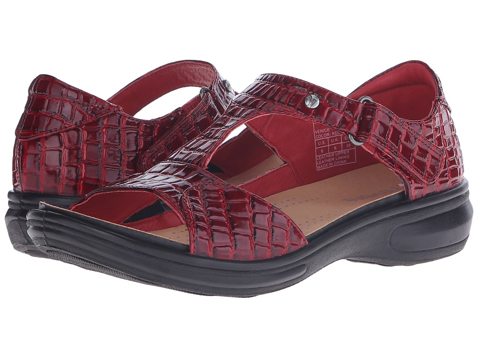 Revere - Venice (Red Croc) Women's Flat Shoes
